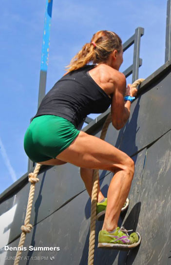 Female OCR Wall Climb