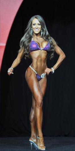 Courtney King IFBB Bikini Pro Bikini Front Pose