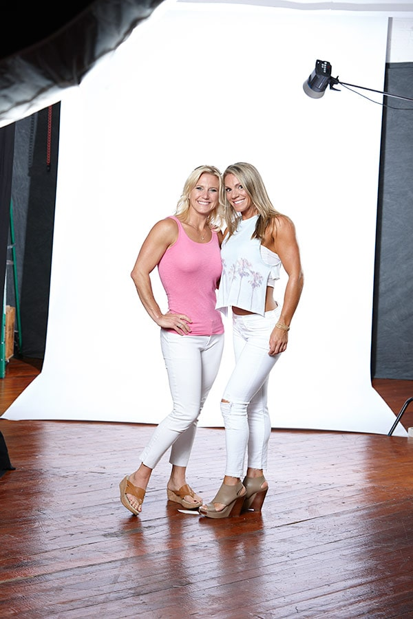 Julie Lohre Online Personal Trainer with client Sarah Hnath