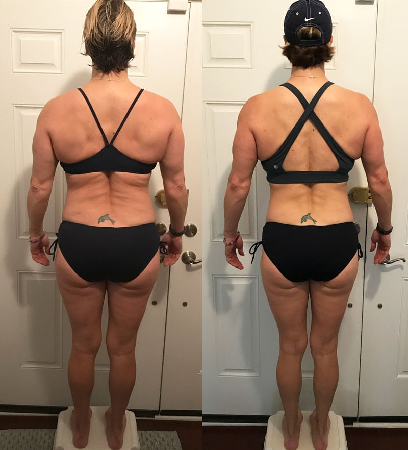 weight loss before and after back