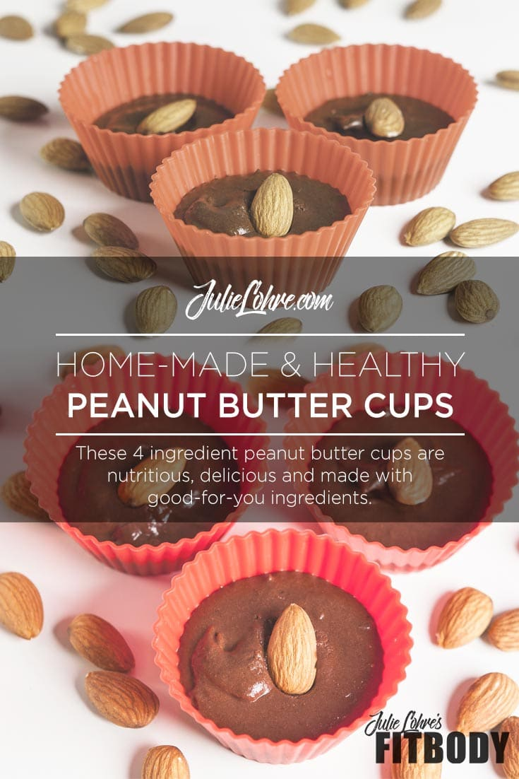 4 Ingredient Healthy Peanut Butter Cups