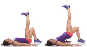 Butt Workouts for Women at Home Single Leg Upward Glute Bridge