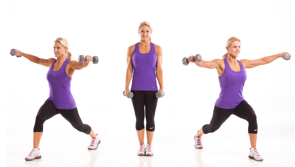 45 Degree Lunge with Lateral Raise