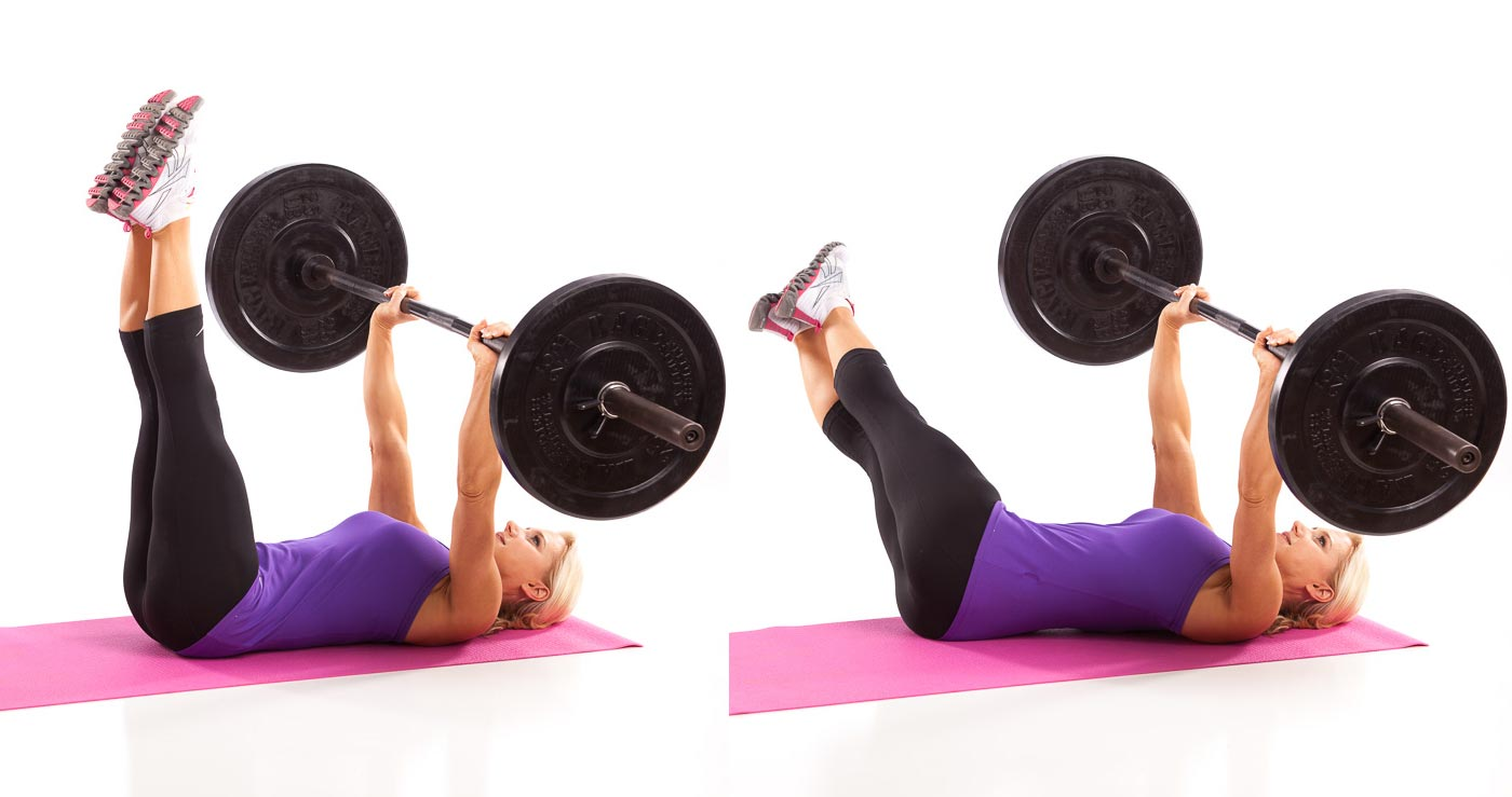 Barbell Wipers  Abs Workout for Women