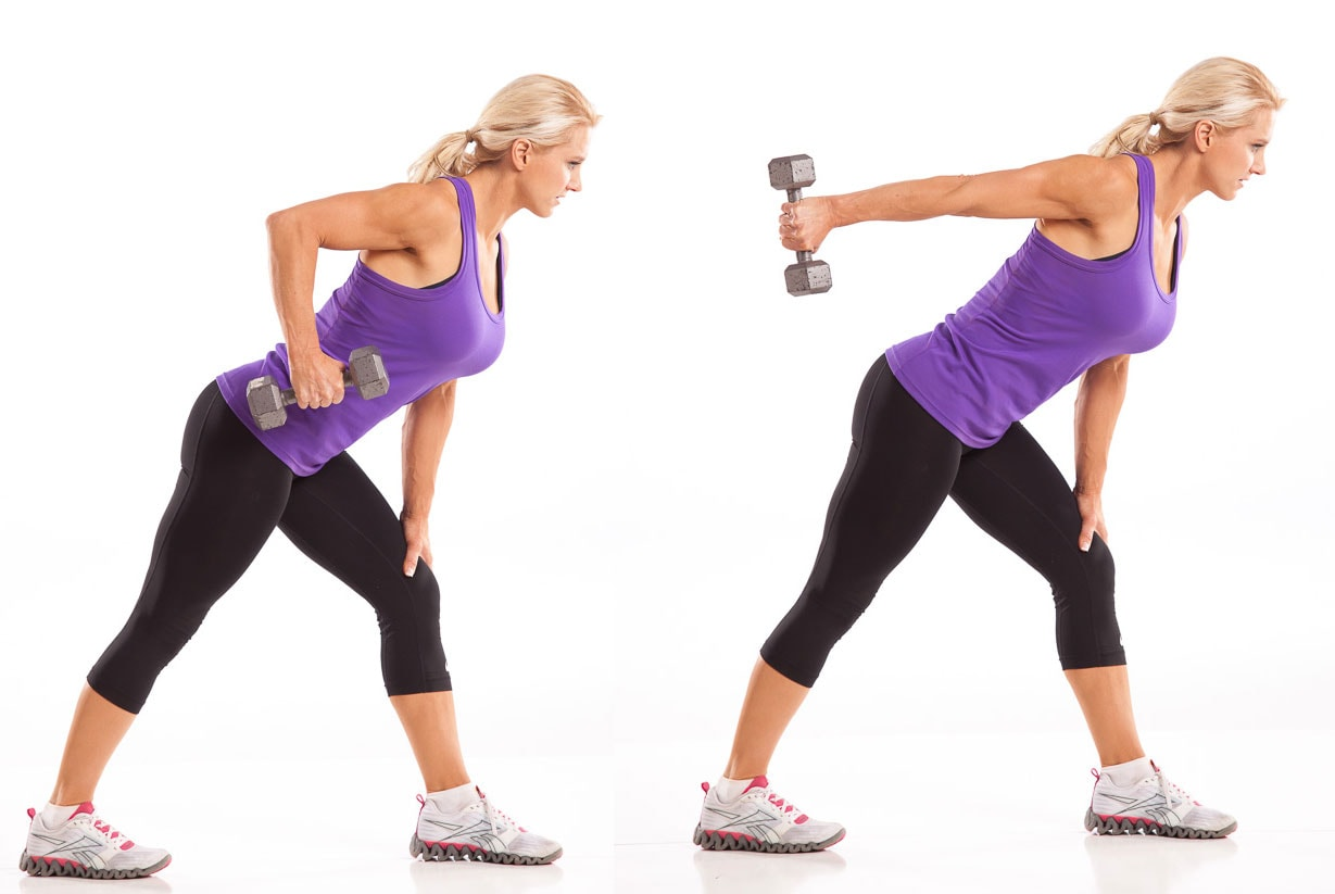 Julie Lohre Dumbbell Tricep Kickbacks