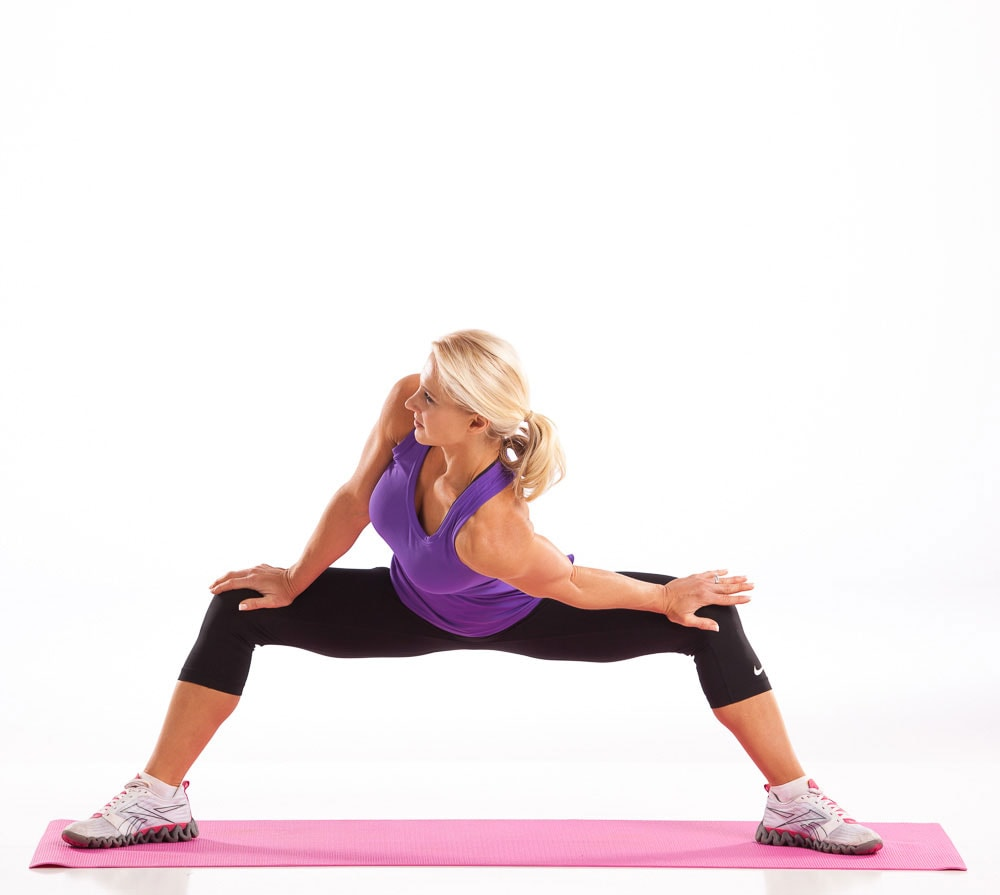 Inner Thigh Shoulder Rotation Stretch