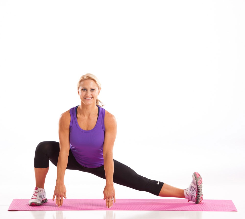 Inner Thigh and Calf Stretch