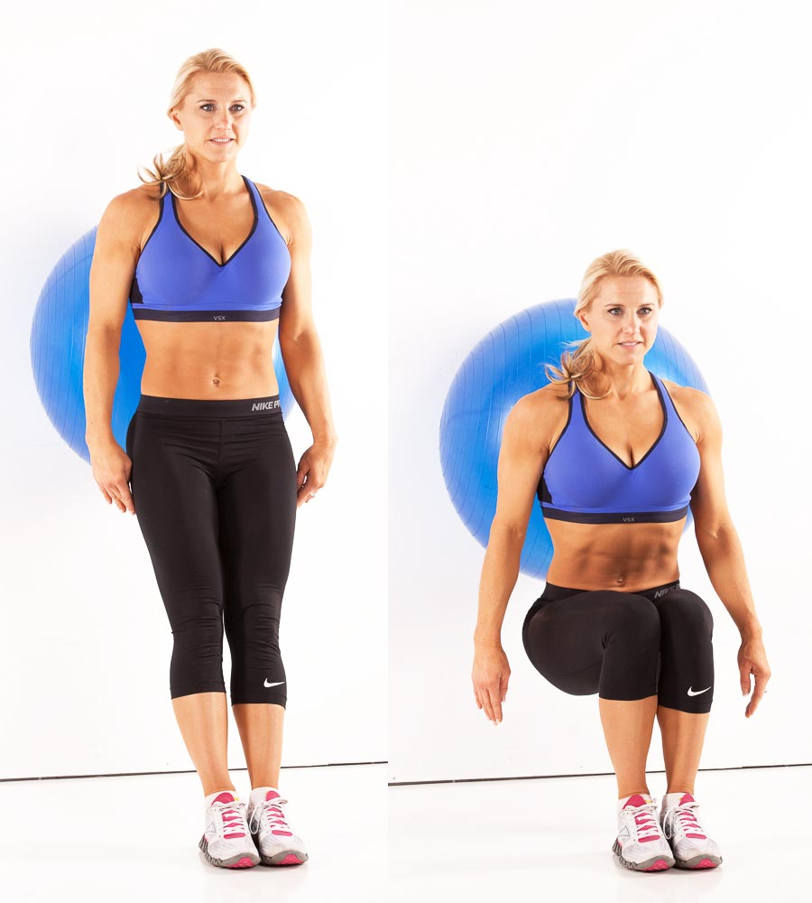 Wall Ball Squats