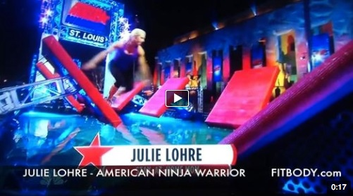 Julie Lohre on American Ninja Warrior
