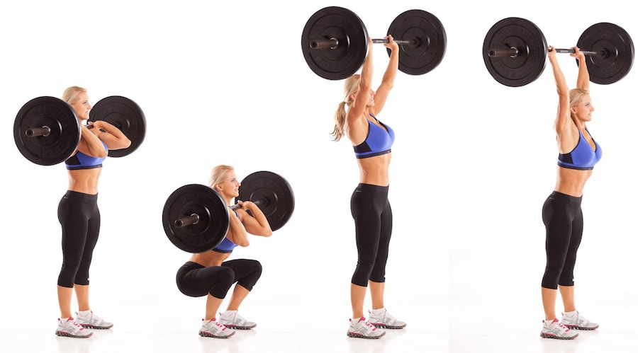 Best Butt Exercises Barbell Thrusters
