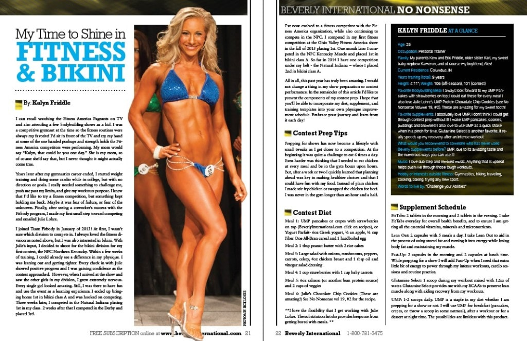Beverly No Nonsense Magazine Bikini Competition