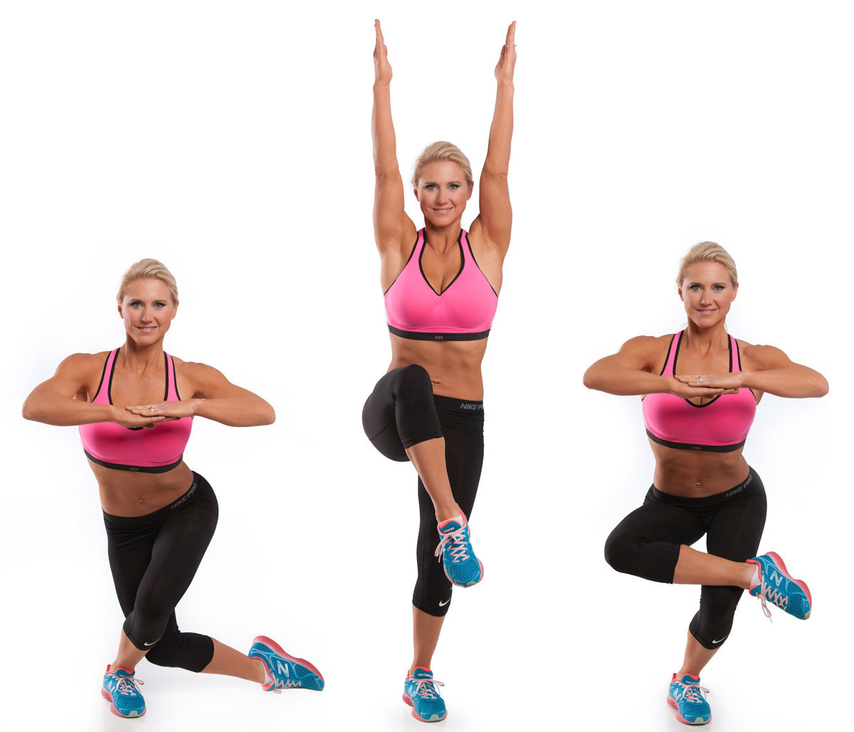 Figure Four Dancers Single Leg Squat Exercise