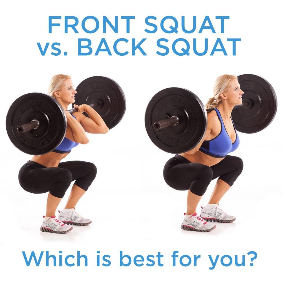 Front Squat versus Back Squat Proper Front Squat Form