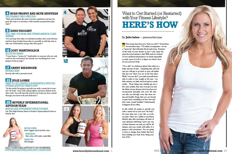 Julie Lohre FITBODY Lifestyle No Nonsense Magazine