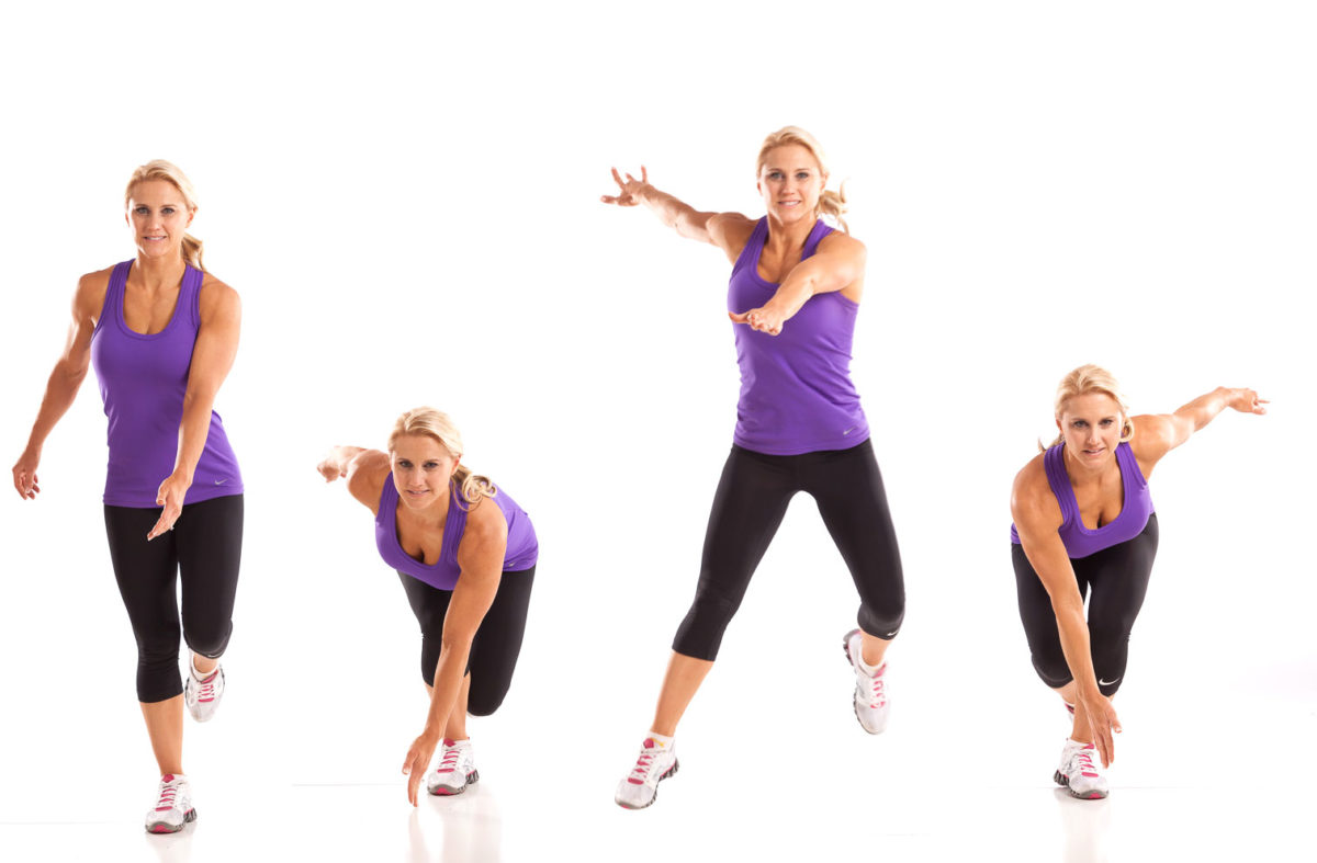 Leaping Lateral Squat