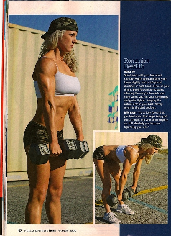 Julie Lohre in Muscle & Fitness Hers