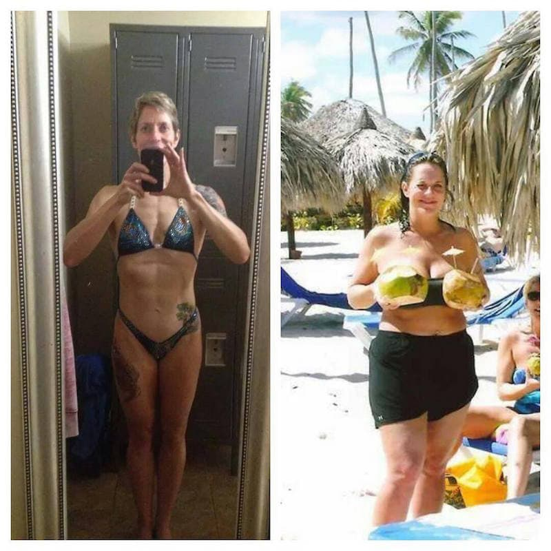 Online Personal Trainer Before and After Julie Lohre