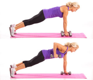 Plank Position Rows