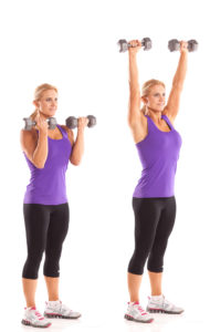 Twisting Overhead Dumbbell Press