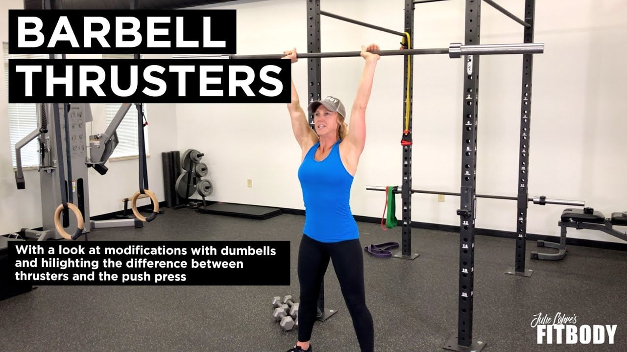 Barbell Thrusters & Dumbell Thrusters Video