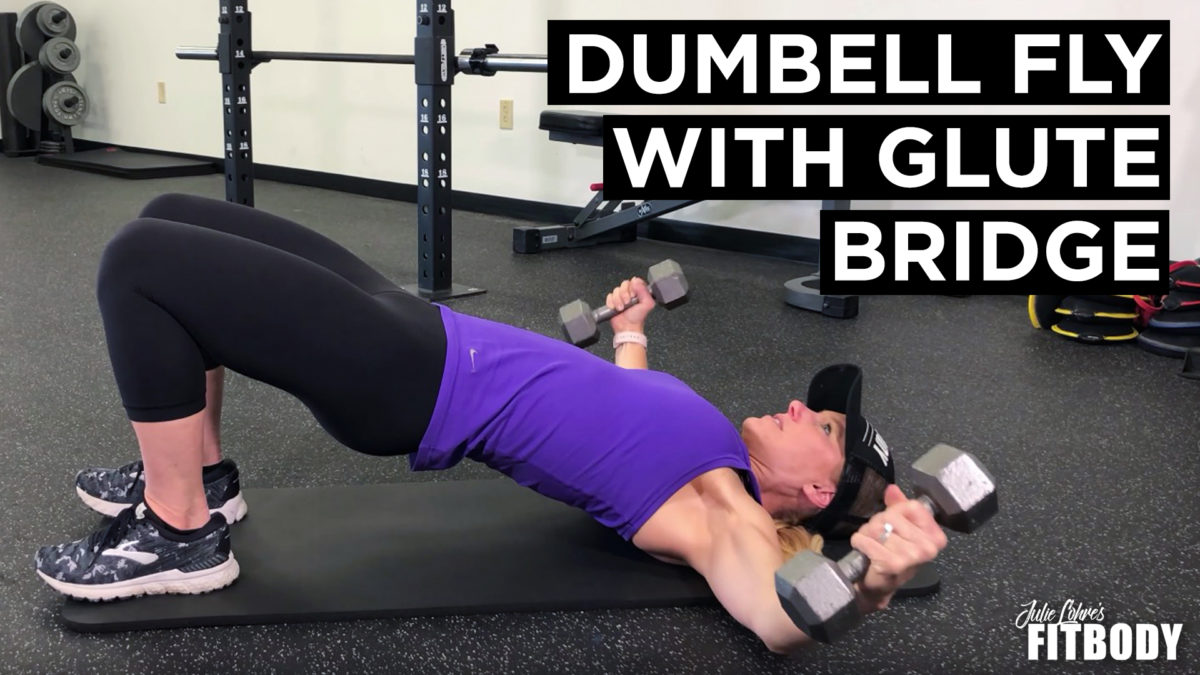 Dumbell Fly with Glute Bridge