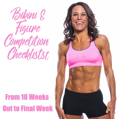 Figure & Bikini Competition Checklist Countdown