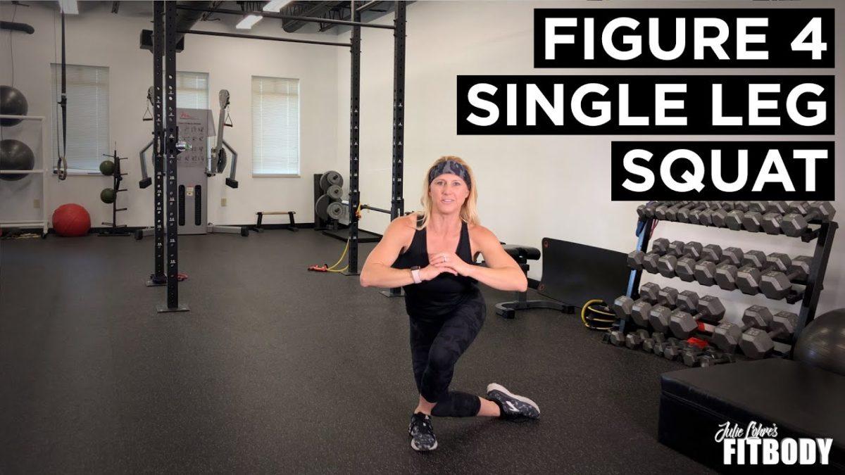 Figure Four Single Leg Squat