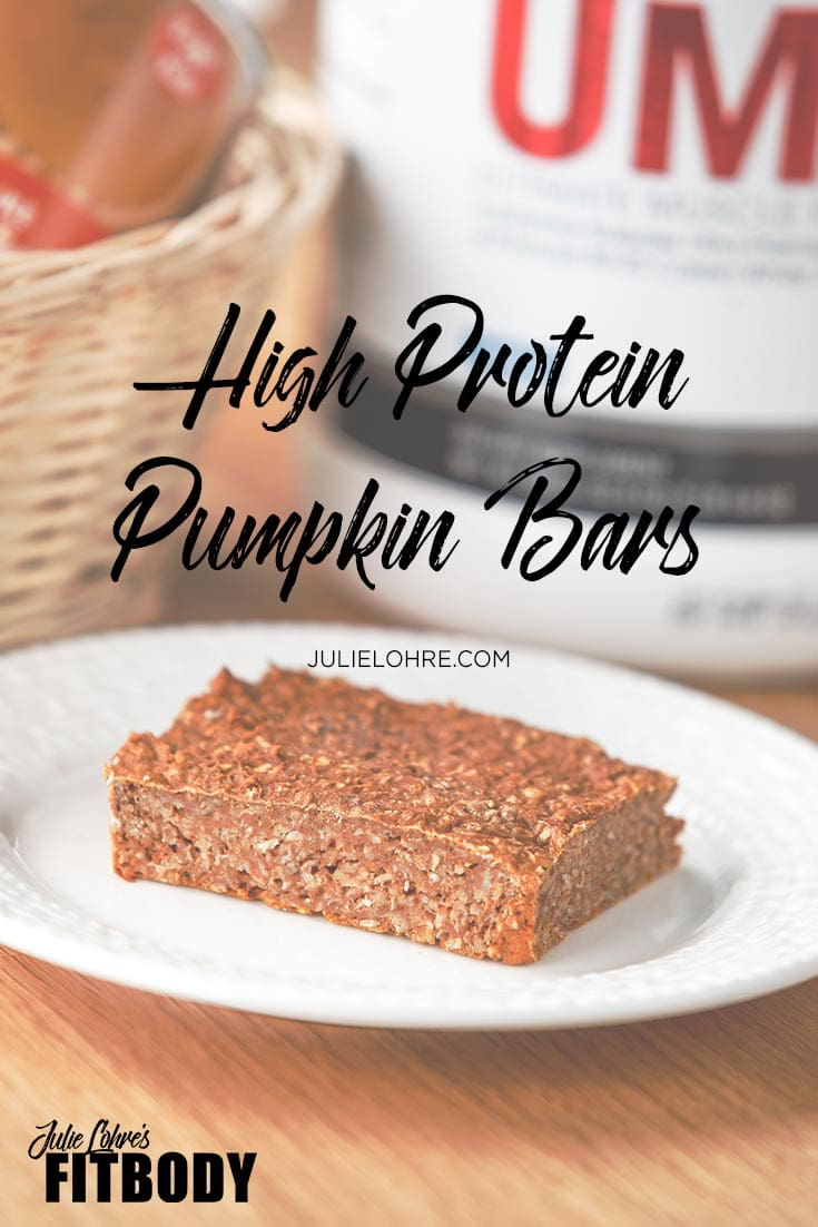 High Protein Pumpkin Bars Recipe