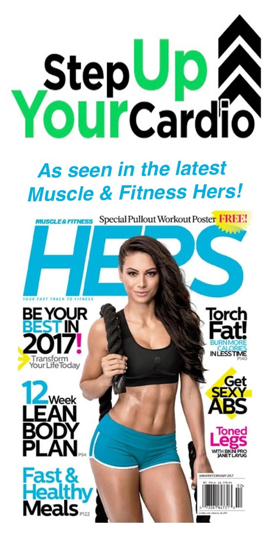 Muscle & Fitness Hers Stepper Cardio Workout