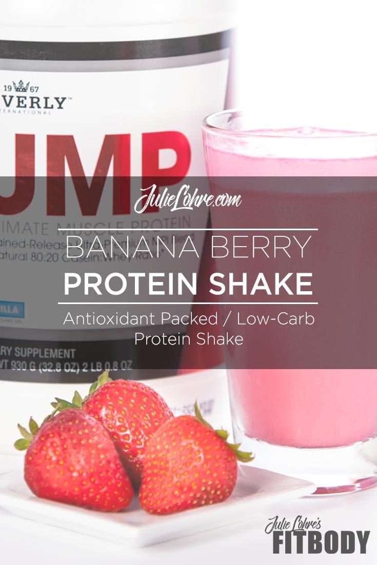 Banana Berry Protein Shake