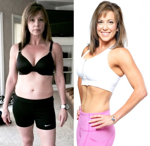 Online Personal Trainer before and after