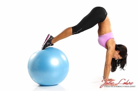 Stability Ball Pike Ups