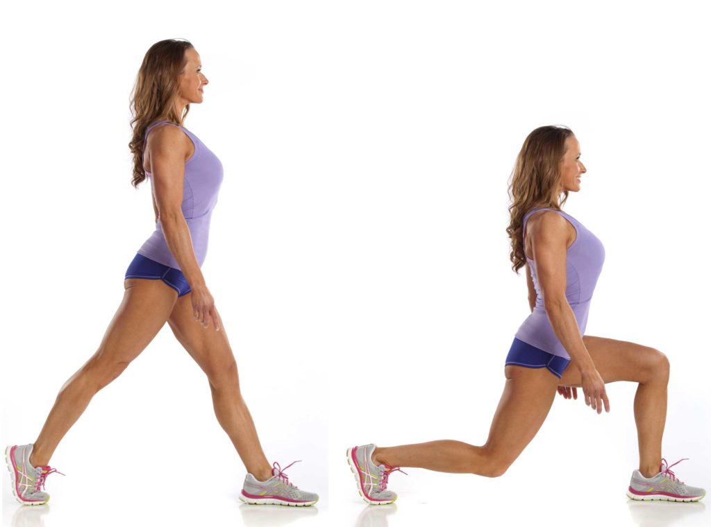 Alternating Lunge Exercise Female