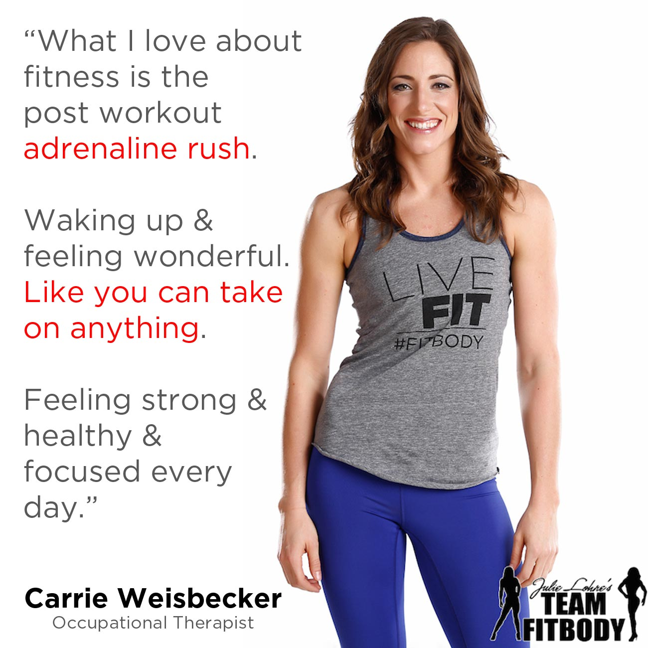 Fitness Motivation Carrie Weisbecker
