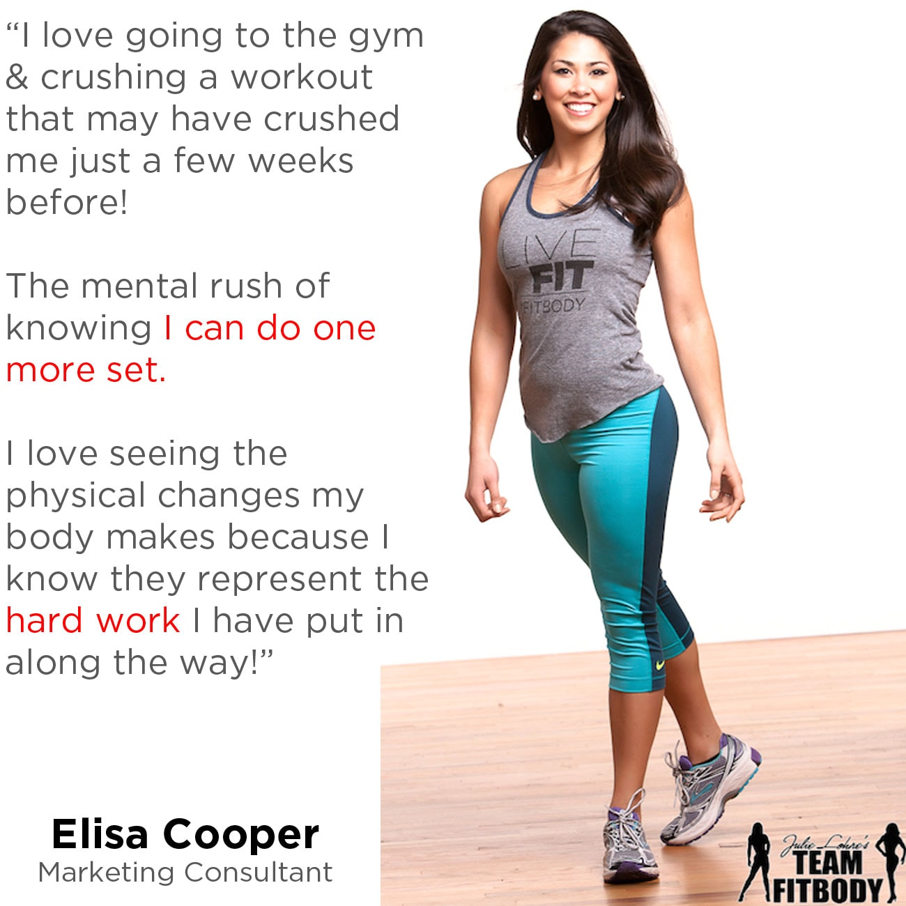 Fitness Motivation Elisa Cooper