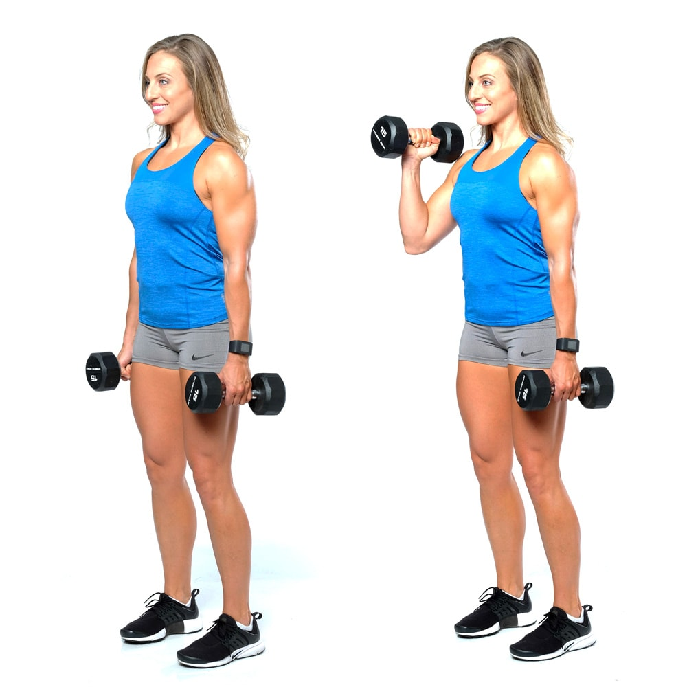 Hammer Curl with Dumbbells
