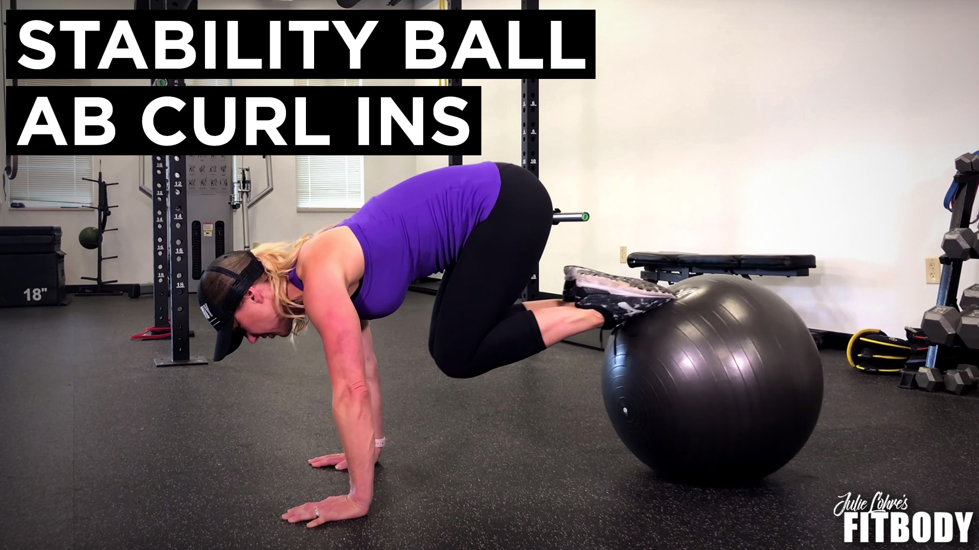 Stability Ball Ab CurlIns
