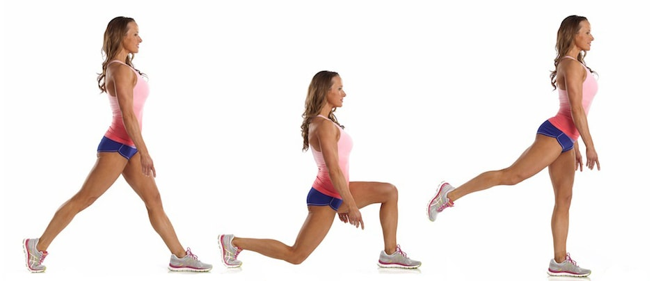 Walking Lunges with Kick to the back