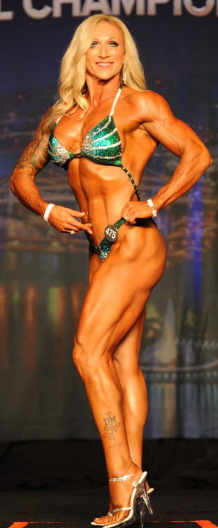 Masters Figure competitor Melissa Jackson on stage at the Kentucky Muscle Show