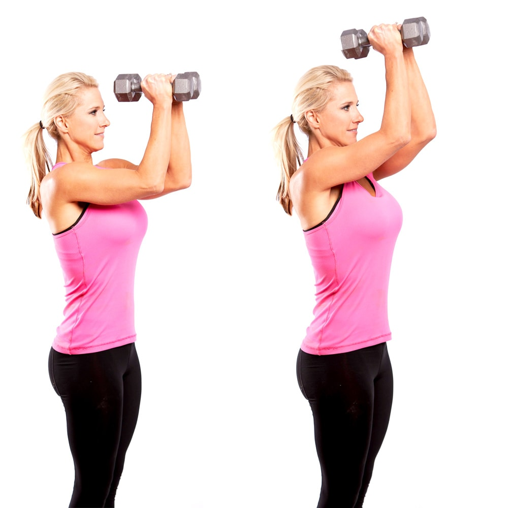 Dumbbell Upward Delt Pulses Elbows Together