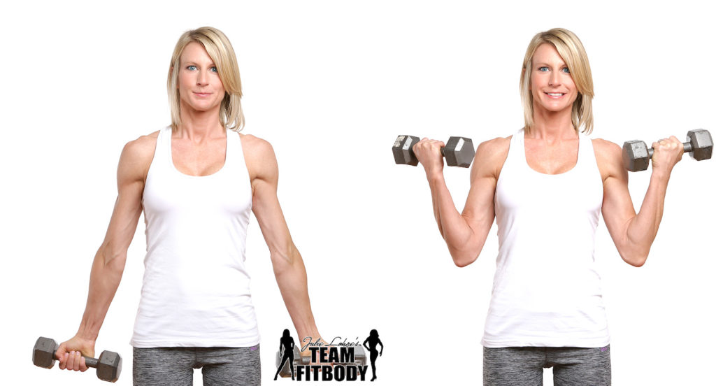 45 Degree Bicep Curl Exercise for Women