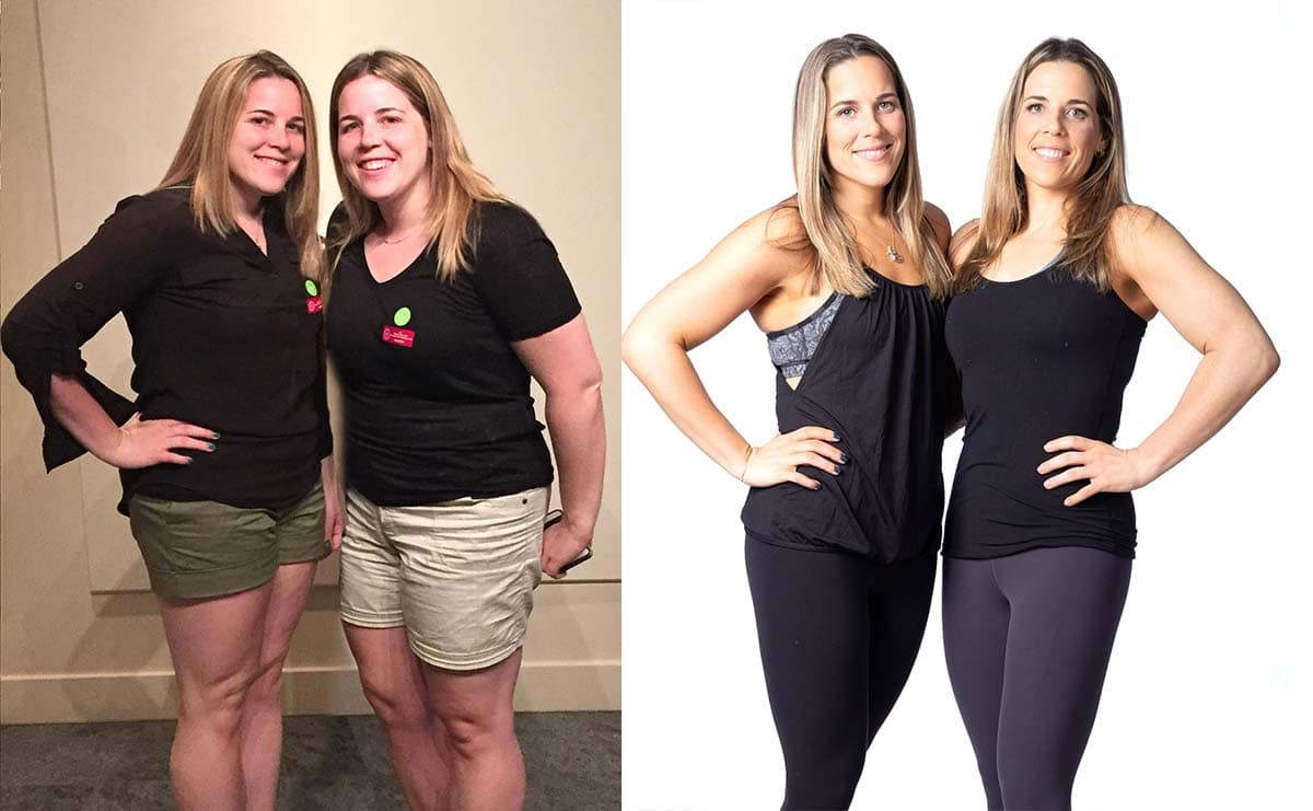 Sisters 50 pound weight loss before and after