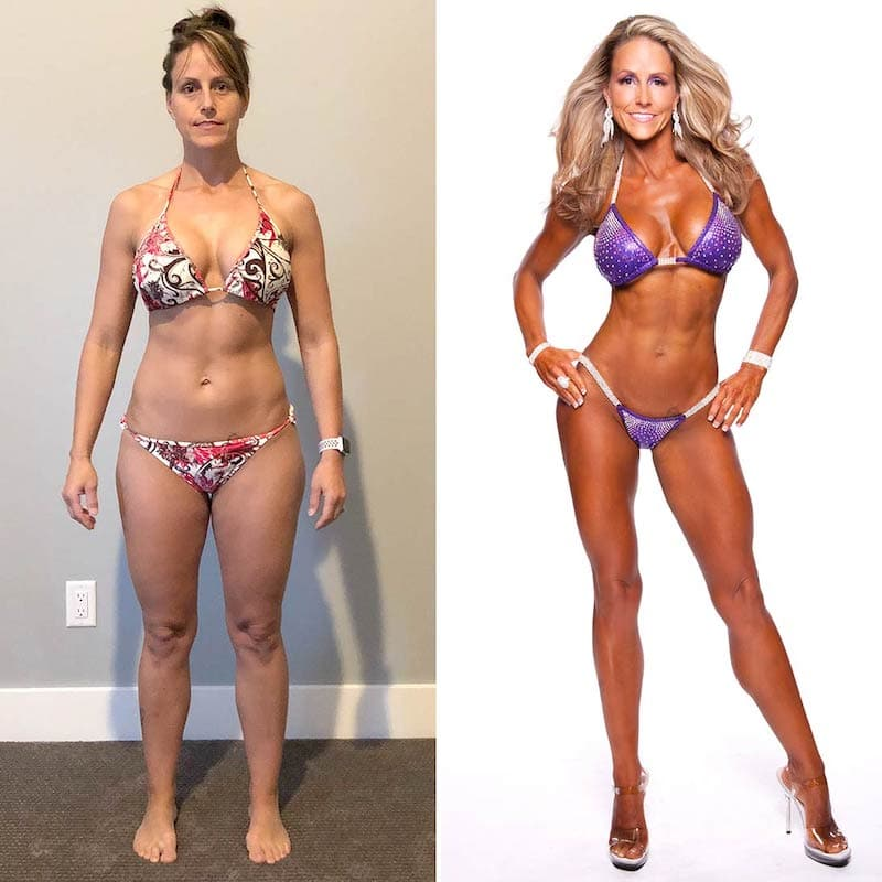 Fitness Competition Before and After
