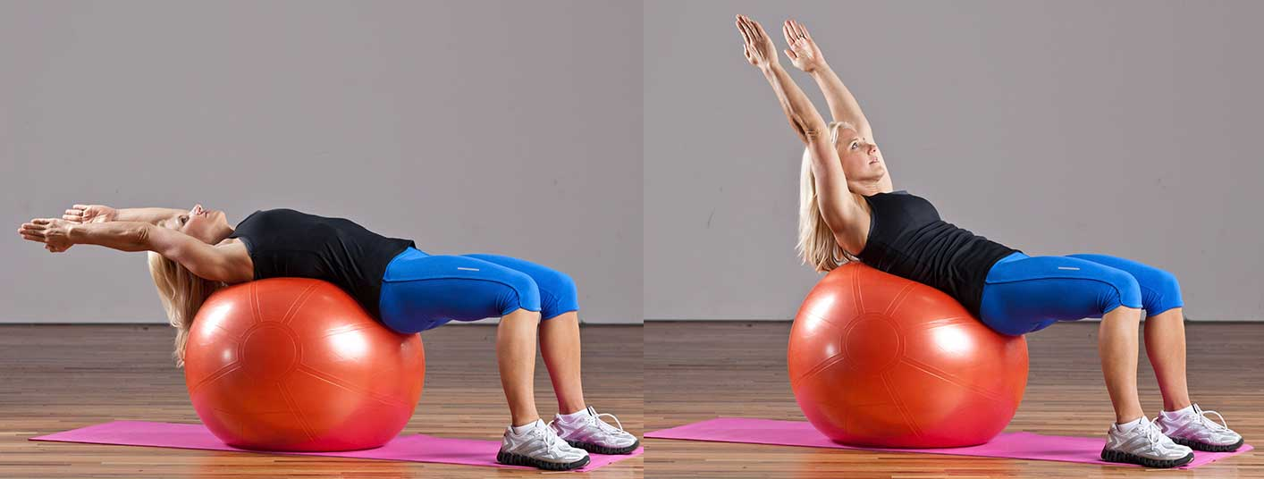 Ball Crunches Exercise