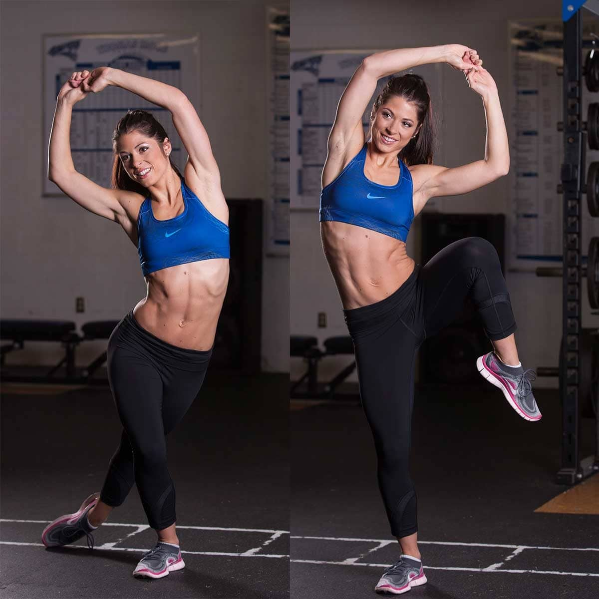 Dancers-Side-Bend-with-Knee-Lift-Exercise