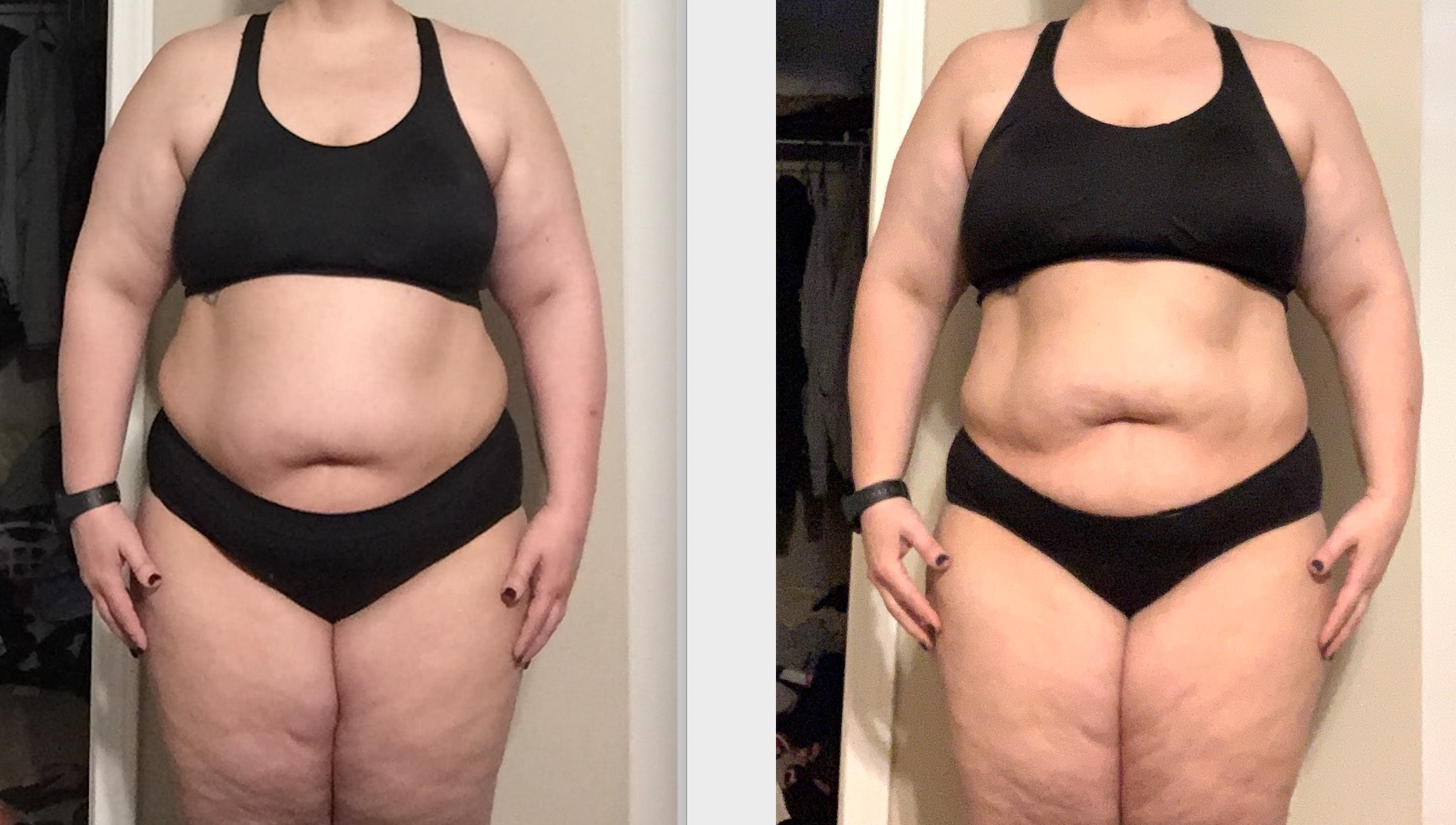 2 month Weight Loss Before and After Teri C.