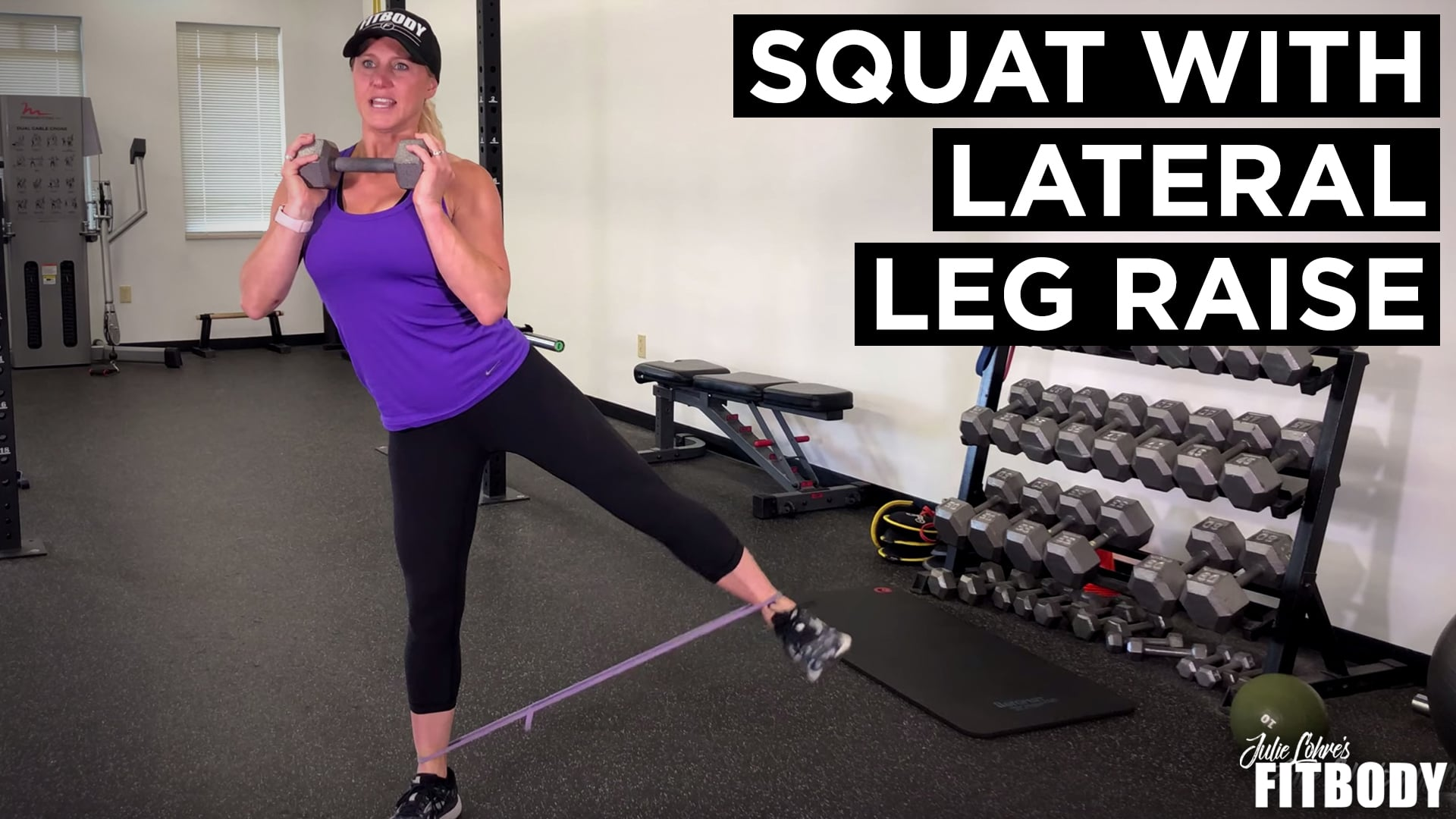 Squat with Lateral Leg Raise