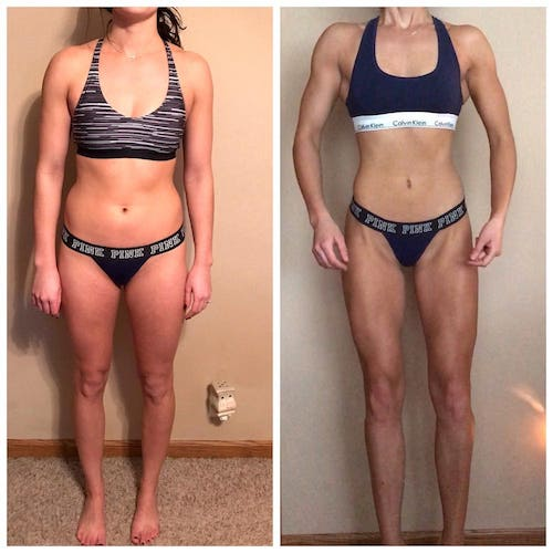 Online Fitness Coach - Before and After