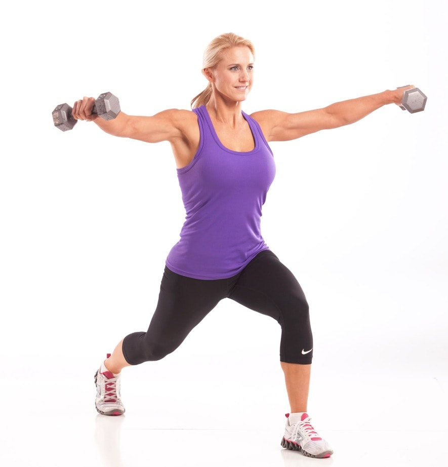 Forward Lunge with Lateral Raise • Julie Lohre