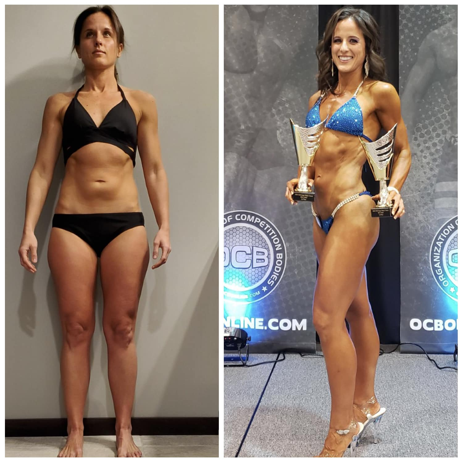 Before After Bikini Division Competitor